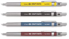 Shop Alvin Draft/Matic Drafting Pencil - mm Tip, Yellow at Blick. Drafting Pencil, Drafting Tools, Best Mechanical Pencil, Mechanical Pencils, Best Pencil, Artist Pencils, Drawing Letters, Pen And Paper, Feathers