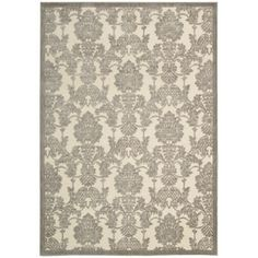 Nourison Graphic Illusions Ivory/Latte Rug runner