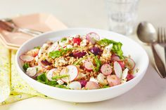 Recipe: Farro Salad with Arugula, Radishes & Goat Cheese — Quick and Easy Weeknight Dinners