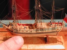 Miniature ship - An amazing piece of work by Lloyd McCaffery Boat In A Bottle, Ship In Bottle, Scale Model Ships, Scale Models, Model Sailing Ships, Model Ship Building, Real Model, Boat Painting, Wooden Ship