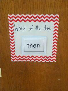 Creative Teaching Press's Chevron decor for the classroom and a way to practice sight words daily - I would use this for vocabulary words of the day in upper grades. Preschool Lessons, Preschool Classroom, Future Classroom, Preschool Ideas, Classroom Decor, Creative Teaching Press, Teacher Problems, Kindergarten Rocks, Abc Activities