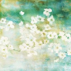 Abstract Flower Art Floral Painting - Fragrant Waters