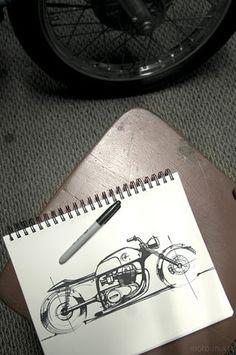 Motorcycle Drawing sketch
