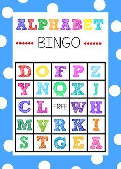 Free printable bingo cards bingo cards pinterest alphabet free printable alphabet bingo game spiritdancerdesigns Gallery