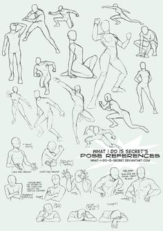 Today's Drawing Class 101: Poses | Pose Collection 002 by *what-i-do-is-secret on deviantART