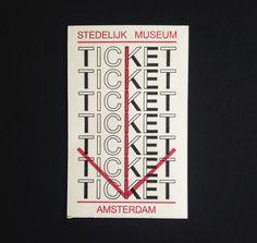 Entrance ticket for the @Stedelijk Museum  #newdesignmuseum  via @Patrick_Myles