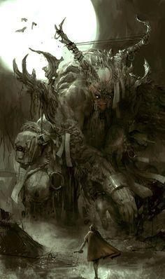 Warrior and Demon