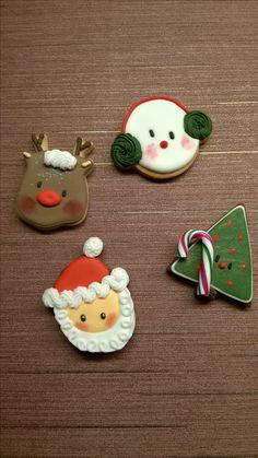 Cookies - Christmas - Santa Rudolf Showman and Tree