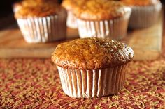 Persimmon spice muffin recipe.  I have a plethora of persimmons right now. The branches of the tree are so heavy with them, one was touching the ground.