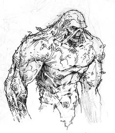 swamp monster coloring pages | 108 Best Swamp Thing images | Comic art, Justice league ...