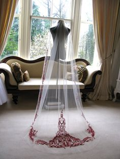 Couture bridal or wedding veil mini Sophia di SarahMorganBridal