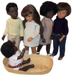 In the 1970s and '80s, Sasha Dolls, created by Swiss artist Sasha Morgenthaler, included black dolls in the line. Photo by Debbie Behan Garrett. ; http://www.collectorsweekly.com/articles/black-is-beautiful-why-black-dolls-matter/