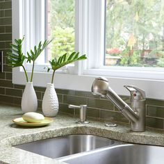 Streamline Your Sink - Add an integrated soap dispenser to your kitchen or bathroom sink to ease cleanup and eliminate the clutter of a freestanding bottle. Mount the unit on your existing faucet deck or sink following the directions that accompany the pump.