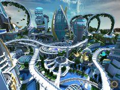 Tomorrowland disney minecraft gameplay city adventure theme park building ideas futuristic 5