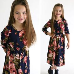how to make a girl's midi dress without a pattern