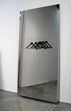 Michelangelo Pistoletto Porta abiti (Hangers), 2008 Silkscreen print on mirror-polished stainless steel 98 3/8 x 49 1/4 inches (250 x 125 cm)