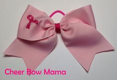 Breast Cancer Awareness Cheer Bow by CheerBowMama on Etsy