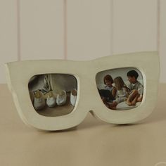 White Painted Sunglasses Photoframes - picture frames for children Frame It, White Paints, Little Things, Dog Bowls, Picture Frames, Personalized Gifts, Unique Gifts, Sunglasses, Children