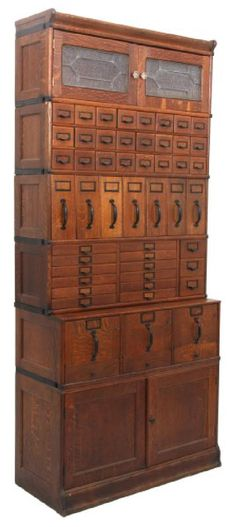 Lot: Oak Globe-Wernicke Sectional Stacking File Cabinet, Lot Number: 0152, Starting Bid: $600, Auctioneer: Fontaine's Auction Gallery, Auction: Antiques & Fine Art Auction, Date: March 25th, 2017 CET