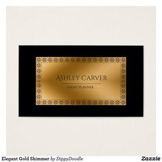 Elegant Gold Shimmer Business Card