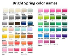 Bright Spring Color Names