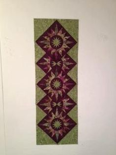 Cactus Flower Table Runner~Quiltworx.com  Made by Lisa McCarthy