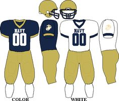 Navy Midshipman Football Team uniforms