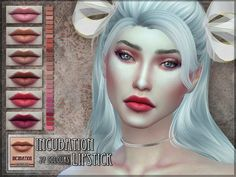 Incubation Lipstick for The Sims 4  Found in TSR Category 'Sims 4 Female Lipstick'