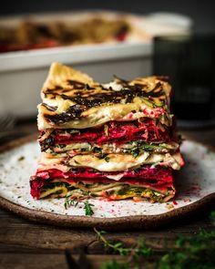 Vegan Gluten Free, Vegan Vegetarian, Vegetarian Recipes, Healthy Recipes, Vegetarian Dinners, Vegan Food, Tasty Lasagna, Super Greens, Roasted Beets