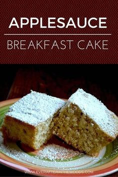 Easy Applesauce Cake Applesauce breakfast cake- easy moist and delicious recipe that is great for breakfast, brunch or after school snack for kids. This cake has a nice spice to it. Apple Recipes, Cake Recipes, Dessert Recipes, Applesauce Recipes, Applesauce Cake Recipe, Apple Desserts, Cupcakes, Cupcake Cakes, Cake Cookies