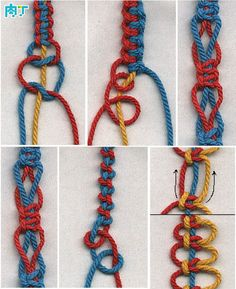 How to weave bracelet braided bracelet (3) In fact, a good simple ╭ ★ diced network