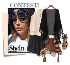 """Shein CONTEST WIN THIS SHORT"" by elenb ❤ liked on Polyvore featuring Post-It and Rosetta Getty"