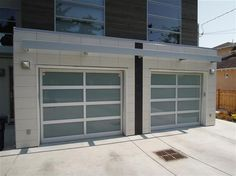 Glass Garage Doors Residential | ... Classic With Clear Anodized Aluminum  Frame With White
