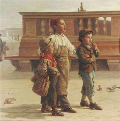 Antonio Paoletti (Venezia 1834-1912) «Scena con Fanciulli»