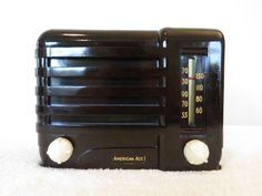 "Vintage 1939 "" American Ace "" Gem Mint Pre War 2 Tube Bakelite Midget Tube Radio | eBay"