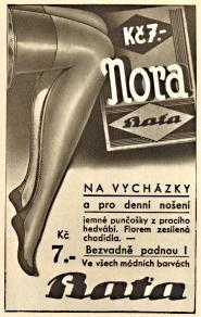 Reklama Baťa - punčochy, 1934 Old Signs, Can Opener, Flora, School, Plants
