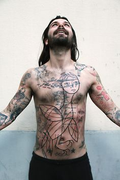 Bird woman by Lionel Fahy ( Out Of Step ) - on Simon from BIFFY CLYRO.