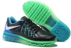Nike Air Maxs 2015 Leather Green Black Blue White