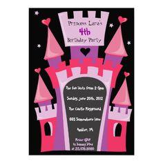 PRINCESS CASTLE Birthday Party Invitation