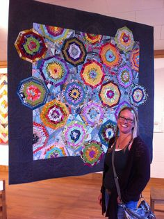 K2 and the spiderweb quilt by Spotted Stone Studio {Krista}, via Flickr