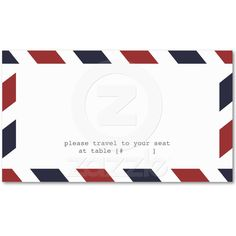 Airmail Escort Card Business Card Template from Zazzle.com   $22.75 total