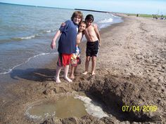 On the Beach of Lake Huron, just north of Port Sanilac Michigan