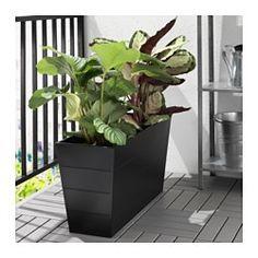 GRÄSET Plant pot, outdoor, black - IKEA