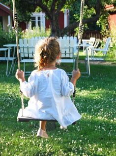 i can imagine a little granddaughter swinging in the back yard one day