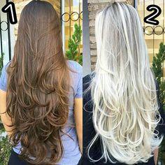 WEBSTA @ studiodosloiros - QUAL VOCÊS PREFEREM? 1 OU 2 ? 😍 eu sou apaixonada nos dois em😚💛 #cabelodossonhos #cabeloslindos #cabelossaudaveis #cabeloslongos 🔝