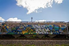 New Hbak Trains – view more (urban doodle) images @ http://www.juxtapoz.com/Graffiti/new-hbak-trains – #graffiti #hbak #train