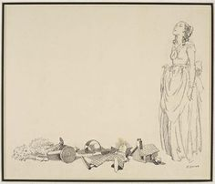 Bob Cratchitt's Wife with Toys (illustration from Dickens' A Christmas Carol), n.d., Everett Shinn, ink on paper and board, 10 1/2 x 12 1/2 in. (26.7 x 31.8 cm), Smithsonian American Art Museum, Gift of Fred D. Bentley, Sr., 2004.33.11