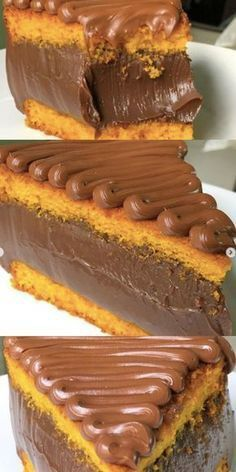 #cake #chocolate #supremecake #blog Best Gluten Free Desserts, Delicious Desserts, Yummy Food, Sweet Recipes, Cake Recipes, Dessert Recipes, Portuguese Desserts, Chia Pudding, 21 Day Fix