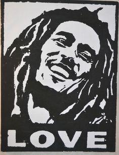 Bob Marley  Love amazing  Portrait rare CANVAS  POP ART PAINTING wall art huge #PopArt