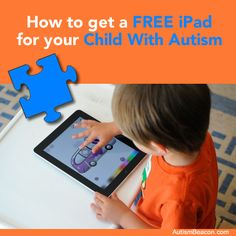 Free iPad for Child with Autism: in case anyone out there wants to try to get this grant!